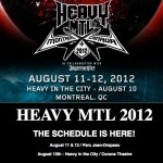 HEAVY MTL 2012: THE SCHEDULE IS HERE!